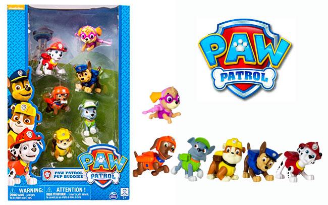 ¡El más vendido! Pack 6 figuras Todos los personajes de la Patrulla Canina barata