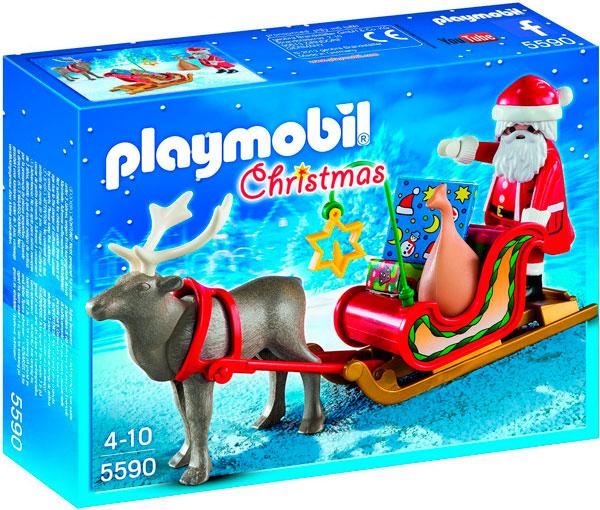 ¡Chollo! Playmobil de Navidad, con Papa Noel y su reno (5590) barato 7 euros