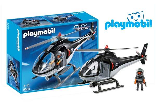 helicoptero de policia playmobil citi action