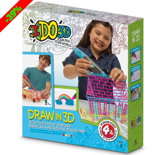 ¡Chollo! Bolígrafo para dibujar IDO 3D de Giochi Preziosi barato 29,99 euros. 39% Descuento