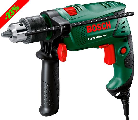 ¡Chollo! Taladro Percutor Bosch PSB 530 RE barato 42 euros. 23% Descuento