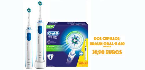 cepillo de diente electrico oral-b 650 pack 2 barato