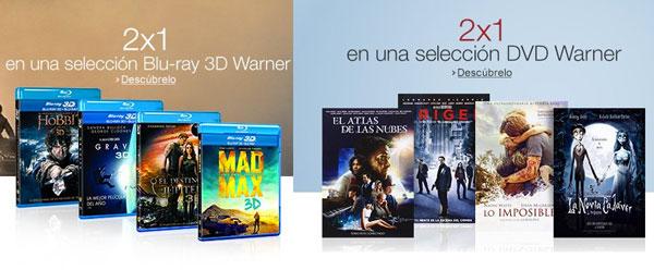 ¡Promoción 2x1 en selección películas Warner! Blu-Ray 3D y DVD