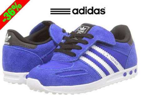 52decd3987c60 Chollo! Zapatillas para niños Adidas LA Trainer CF baratas 25