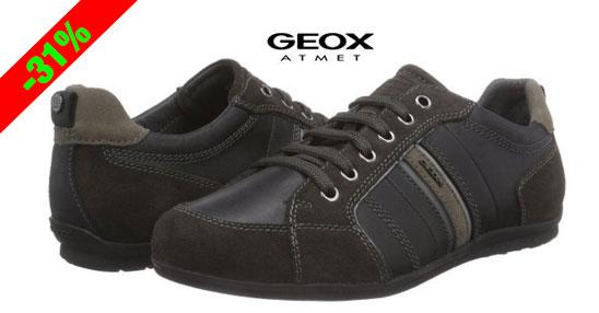 ¡Chollo! Zapatillas deportiva cuero GEOX U Houston A baratas 69,95 euros. 31% Descuento