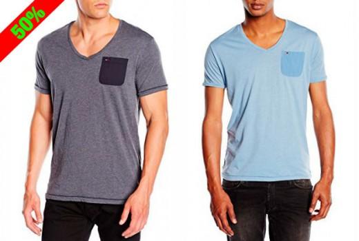 Camisetas-de-hombre-Hilfiger-denim-Lef-vn-knit-s-s-Camiseta-para-hombre-baratas-oferta-descuento