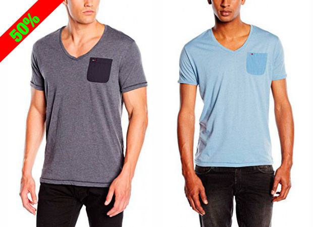 ¡Chollo! Camisetas Tommy Hilfiger Denim Lef vn baratas desde 19,95 euros. 50% Descuento