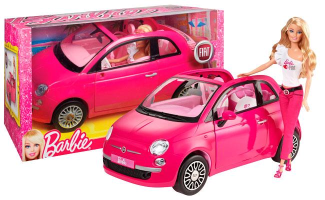 ¡Chollo! Muñeca Barbie con Fiat 500 Rosa barata sólo 38 euros