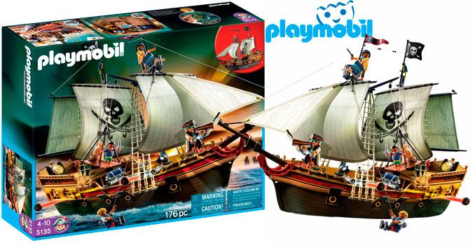 ¡Chollo! Barco Pirata de Ataque de Playmobil 5135 barato 68 euros