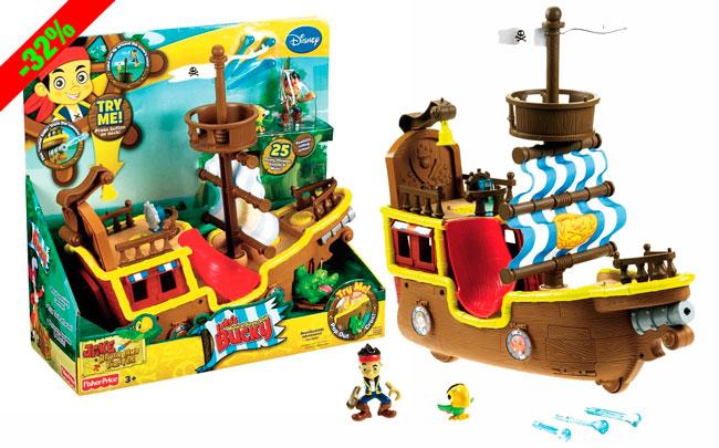 ¡Chollo! Barco Pirata de Bucky Jake y los Piratas barato 42 euros. 32% Descuento