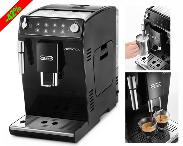 ¡Chollo! Cafetera Super Automatica De´Longhi Autentica ETAM29.510.B barata 349 euros.42% Descuento