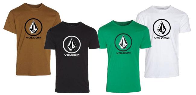 ¡Chollo! Camisetas Volcom en varios colores baratas desde 15 euros. 53% descuento