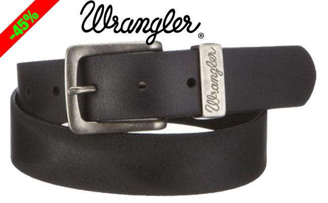 ¡Chollo! Cinturón de piel Wrangler W0080US01 barato 13 euros. 45% Descuento