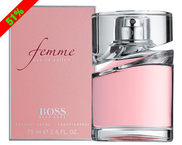 ¡Chollo! Perfume Hugo Boss Femme 75ml barato 39,90 euros. 51% Descuento