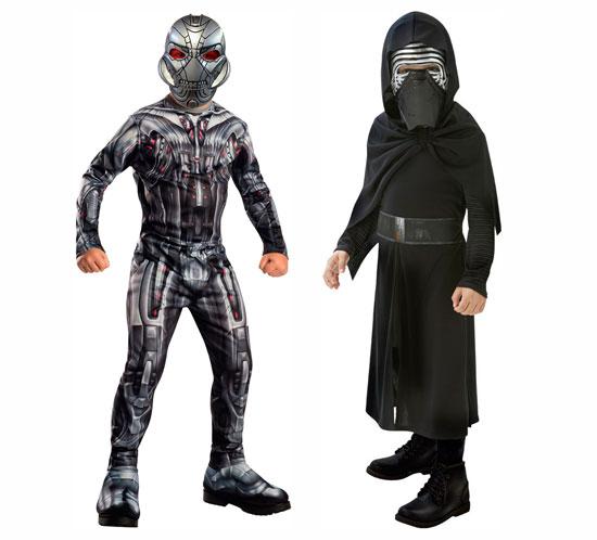 ¡Chollo! Disfraces de niño de Vengadores 2 o Star Wars Kylo Ren baratos 14 euros. 50% Descuento