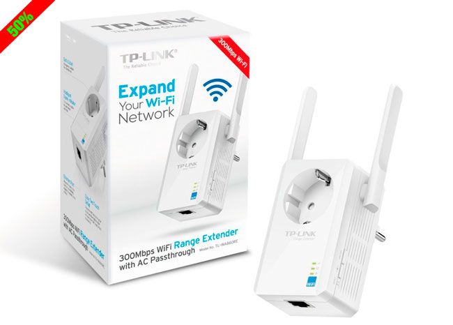 ¡Chollo! Extensor de Red Wifi TP-Link TL-WA860RE barato 22,95 euros. 50% Descuento