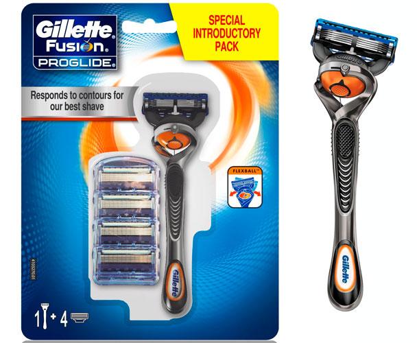 ¡Chollo! Kit Afeitado Gillette Fusion Proglide Flexball con 4 recambios barato 15 euros