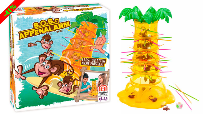 ¡Chollo! Juego de Mesa de Monos Locos de Mattel barato 13 euros. 41% Descuento