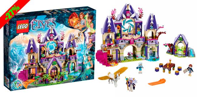 ¡Chollo! Lego Elves: El Misterioso Castillo de Skyra en el Cielo 41078 barato 69 euros. 27% Descuento