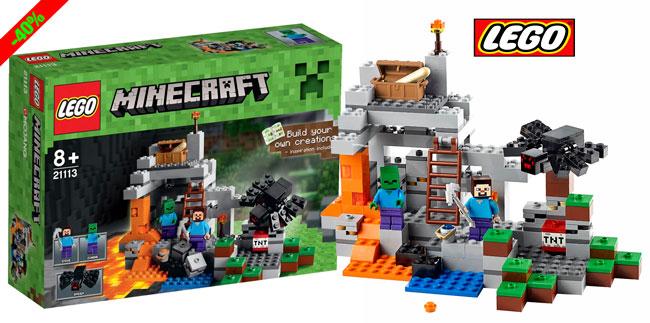 ¡Chollo! LEGO Minecraft La Cueva (21113) barata 17 euros. 40% Descuento
