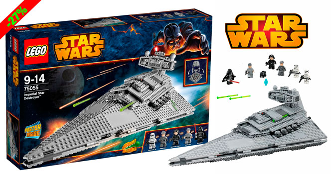 ¡Chollo! LEGO Star Wars Imperial Star Destroyer 75055 barato 109 euros. 27% Descuento