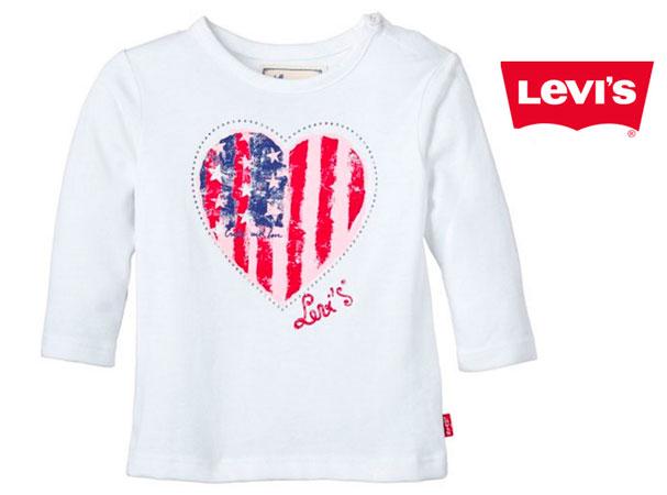 ¡Chollo! Camiseta Levis Drapo bebes-niñas barata 9 euros. 53% descuento