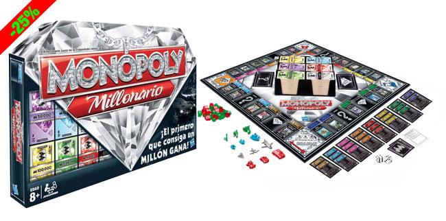 ¡Chollo! Monopoly Millonario de Hasbro barato 29 euros. 25% Descuento