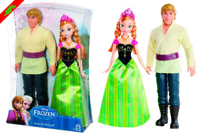 ¡Chollo! Pack Figuras Frozen Anna y Kristoff baratas 22 euros. 40% Descuento