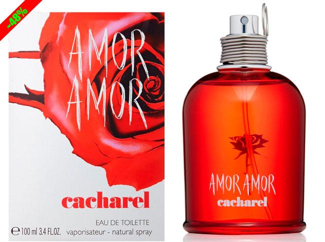 ¡Chollo! Perfume Colonia Amor Amor de Cacharel 100ml barato 43 euros. 48% Descuento