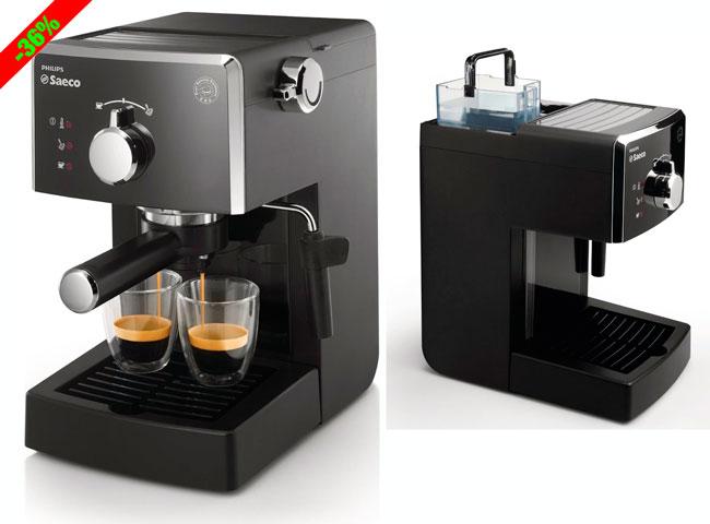 ¡Chollo! Cafetera espresso Saeco Poemia Philips HD8423/11 barata 74 euros. -40€ Descuento