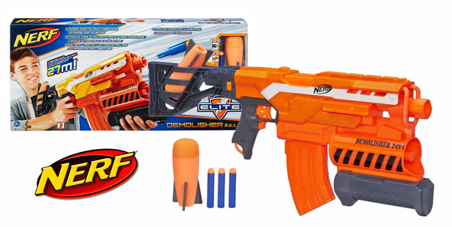 ¡Chollo! Pistola Nerf Elite Demolisher 2 en 1 barata 27 euros. 36% Descuento