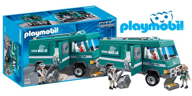 ¡Chollo! Playmobil City Action (5566) Vehiculo transportar dinero barato 26 euros. 35% Descuento
