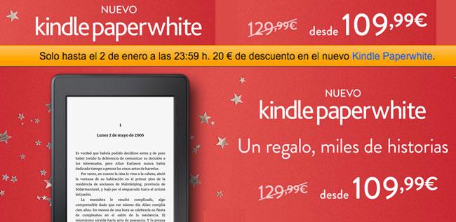 ¡Oferta! Nueva Kindle PaperWhite barata por sólo 109,99 euros. 20€ Descuento