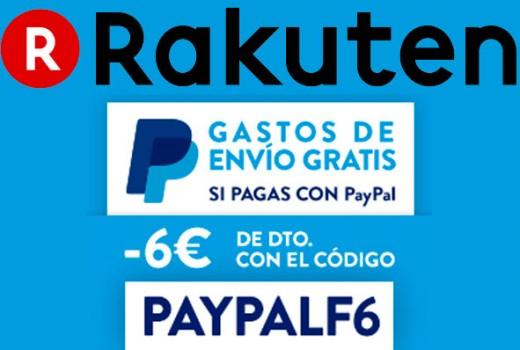 promocion-rakuten-envio-gratis-y-6euros-descuento-paypal-codigo-descuento