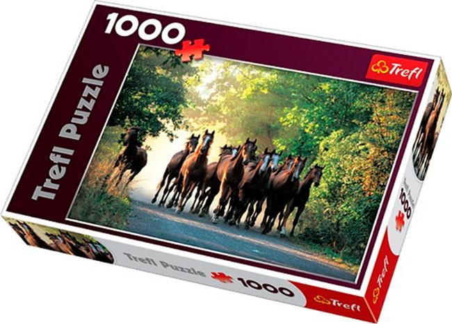 ¡Chollo! Puzzle 1.000 piezas Trefl con diseño de caballos barato 4 euros. 71% Descuento