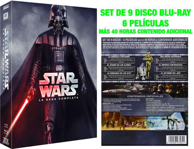 Oferta Set Saga Completa 2015 Star Wars con 6 películas Blu-Ray baratas 75 euros