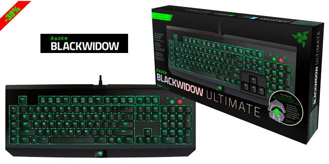 ¡Chollo! Teclado Gaming Razer BlackWidow Ultimate 2014 barato 99,95 euros. 38% Descuento
