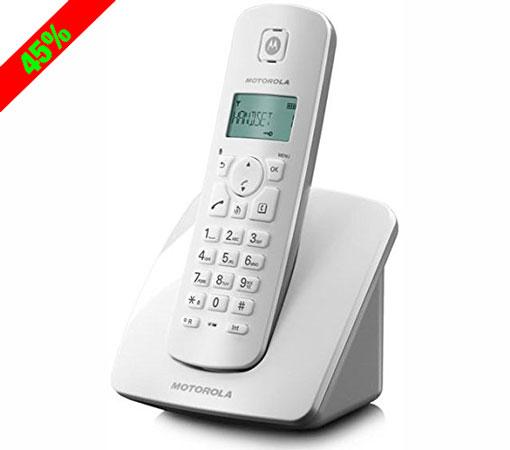 ¡Chollo! Teléfono fijo inalámbrico Motorola C401E barato 15,95 euros. 45% Descuento