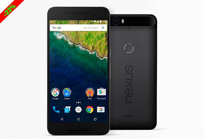 ¡Oferta Flash! Nuevo Smartphone Huawei Nexus 6P barato 499 euros. 23% Descuento