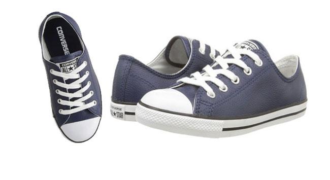 ¡Chollo! Zapatillas Converse Dainty Leath Azul Chica baratas desde 36 euros. Hasta 52% descuento
