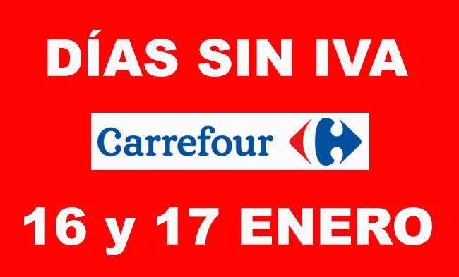 ¡Dias SIN IVA en Carrefour! En electrónica e informática dias 16 y 17 Enero