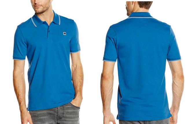 ¡Chollo! Polo G-Star Mikn en azul barato 36 euros. 39% Descuento