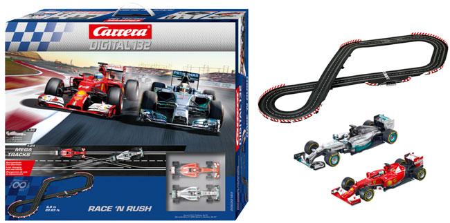 ¡Chollo! Pista Carrera Digital 132 Race ´n Rush barata 157 euros. 45% Descuento