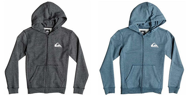 ¡Chollo! Sudadera niño Quiksilver Everyday Heather Zip barata 20 euros. 49% descuento