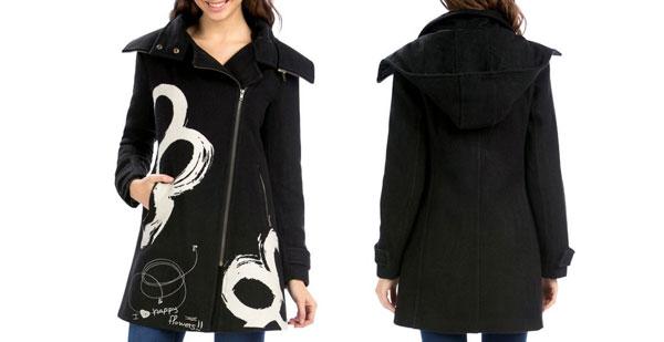 abrigo desigual virgo barato amazon