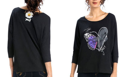 ¡Chollo! Camiseta Desigual Ts Gabi barata 23 euros. 59% Descuento