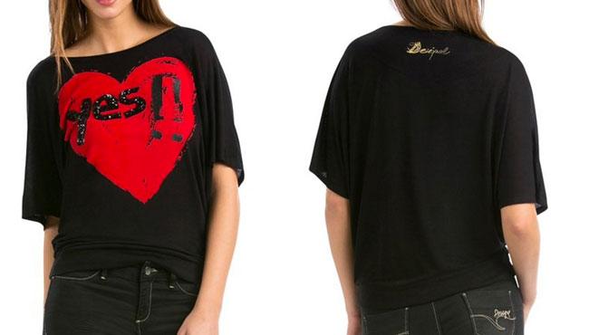 ¡Chollo! Camiseta Desigual TS Elvira barata 19 euros. 60% descuento