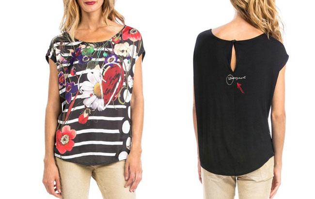 ¡Chollo! Camiseta Desigual TS Melina barata 17 euros.