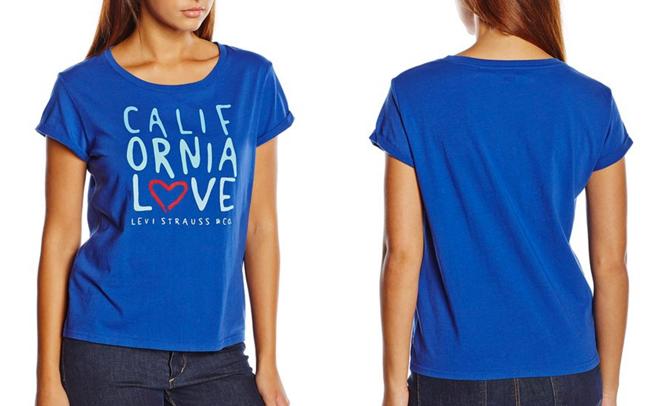 ¡Chollo! Camiseta Levis Marina barata 13,99 euros. 53% Descuento