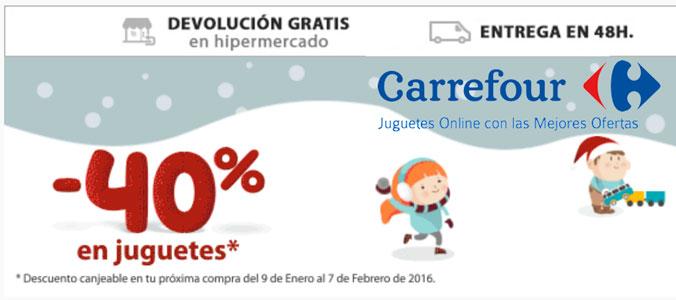 ¡Chollo! 40% Descuento en Juguetes en Carrefour. Hasta el 8 Enero